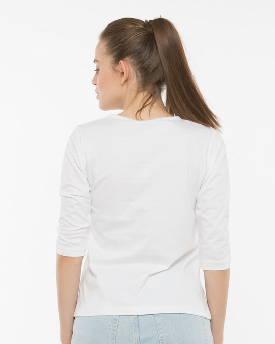 Shop Tea Positive Round Neck 3/4th Sleeve T-Shirt-Full