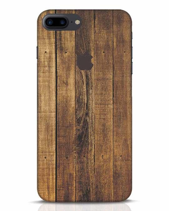 Shop Teak iPhone 7 Plus Logo Cut Mobile Cover-Front