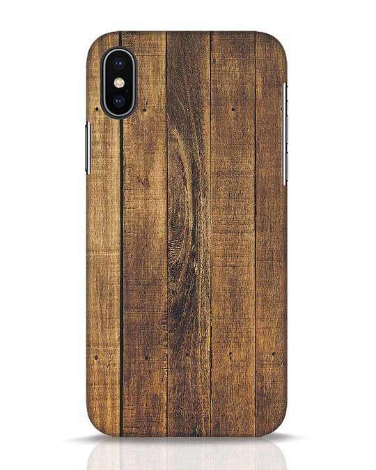 Shop Teak iPhone X Mobile Cover-Front