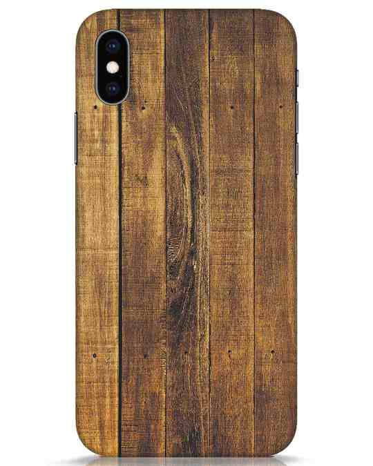 Shop Teak iPhone XS Mobile Cover-Front