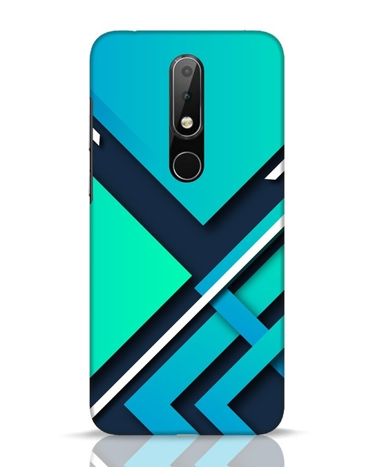 Shop Teal Block Nokia 6.1 Plus Mobile Cover-Front