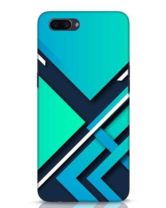 Shop Teal Block Oppo A3S Mobile Cover-Front
