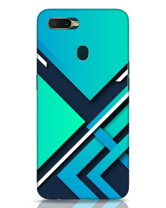 Shop Teal Block Oppo A7 Mobile Cover-Front