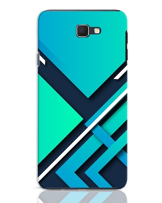 Shop Teal Block Samsung Galaxy J7 Prime Mobile Cover-Front