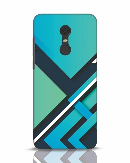 Shop Teal Block Xiaomi Redmi Note 5 Mobile Cover-Front