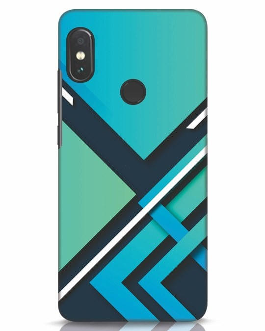 Shop Teal Block Xiaomi Redmi Note 5 Pro Mobile Cover-Front