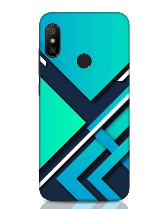 Shop Teal Block Xiaomi Redmi Note 6 Pro Mobile Cover-Front