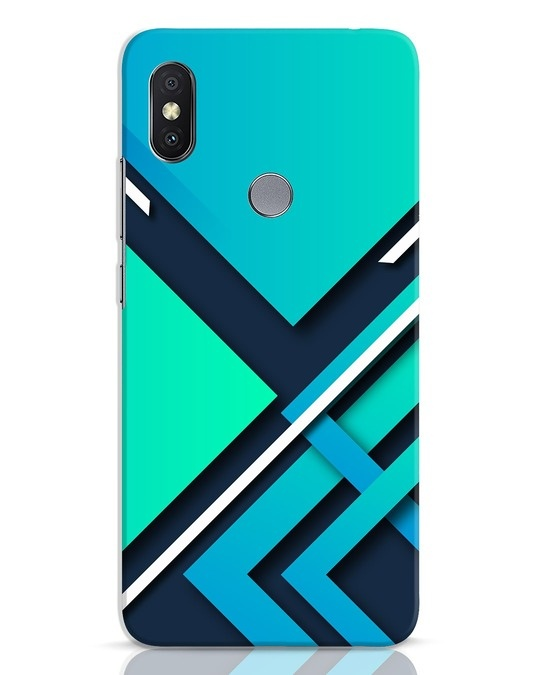 Shop Teal Block Xiaomi Redmi Y2 Mobile Cover-Front