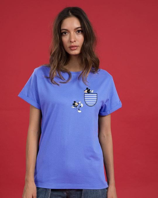 Shop Teasing Mickey Boyfriend T-Shirt (DL)-Back