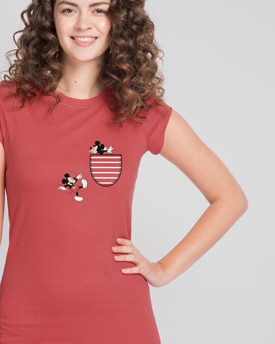 Shop Teasing Mickey Cap Sleeve T-Shirt Dress (DL)-Full