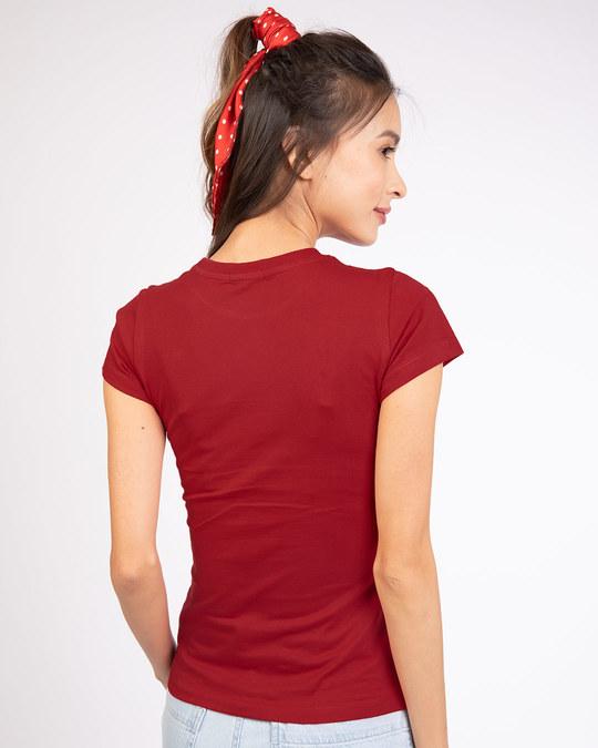 Shop Teasing Mickey Half Sleeve T-shirt (DL) Bold Red-Design