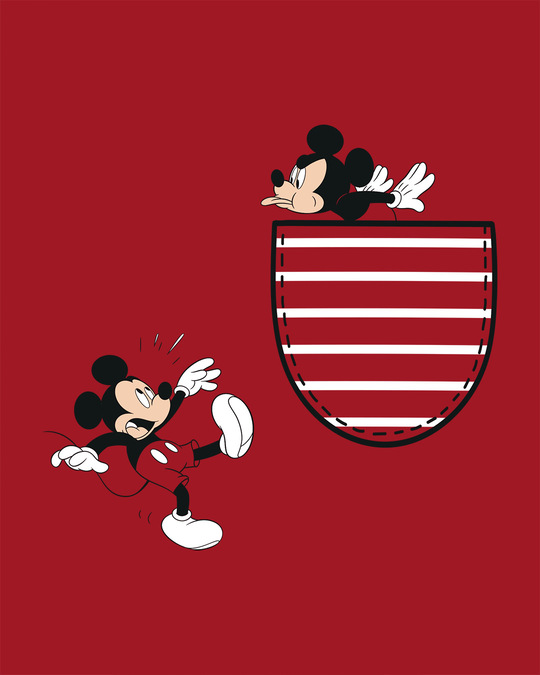 Shop Teasing Mickey Round Neck 3/4th Sleeve T-Shirt (DL)