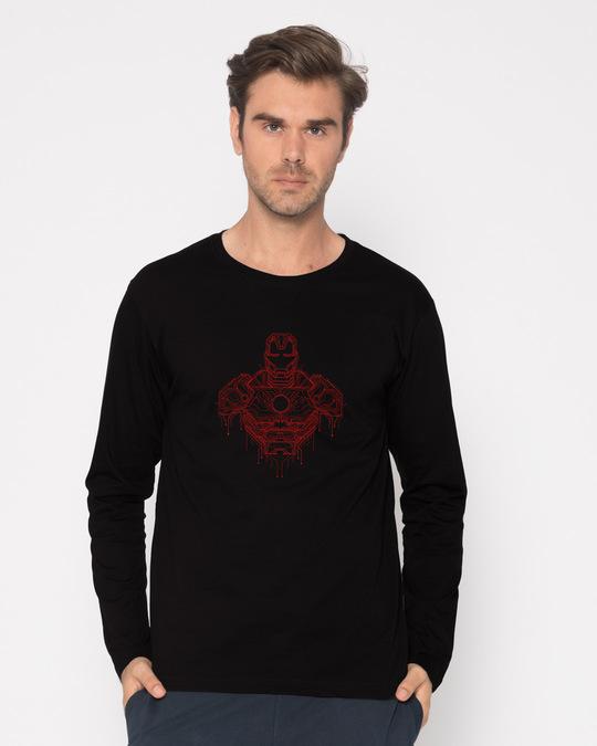 Shop Technical Iron Man Full Sleeve T-Shirt (AVL)-Front