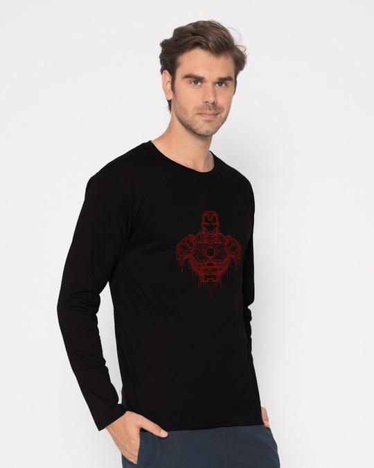 Shop Technical Iron Man Full Sleeve T-Shirt (AVL)-Back