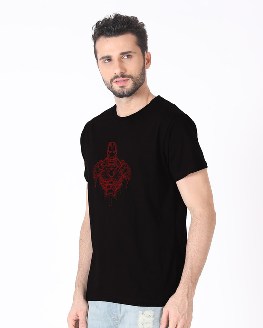 Shop Technical Iron Man Half Sleeve T-Shirt (AVL)-Full