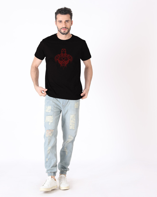 Shop Technical Iron Man Half Sleeve T-Shirt (AVL)