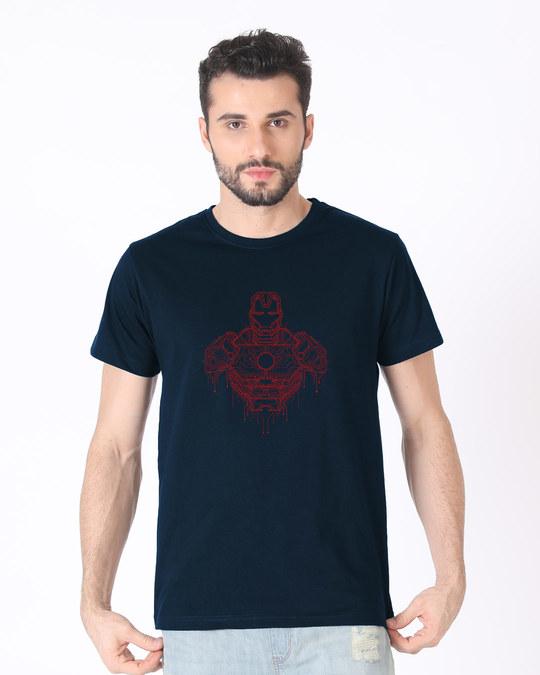 Shop Technical Iron Man Half Sleeve T-Shirt (AVL)-Back