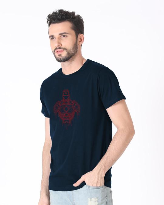Shop Technical Iron Man Half Sleeve T-Shirt (AVL)-Full
