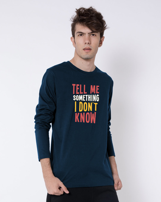 Shop Tell Me Something Full Sleeve T-Shirt-Back