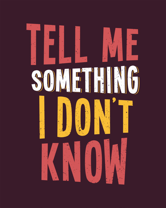 Shop Tell Me Something Half Sleeve T-Shirt