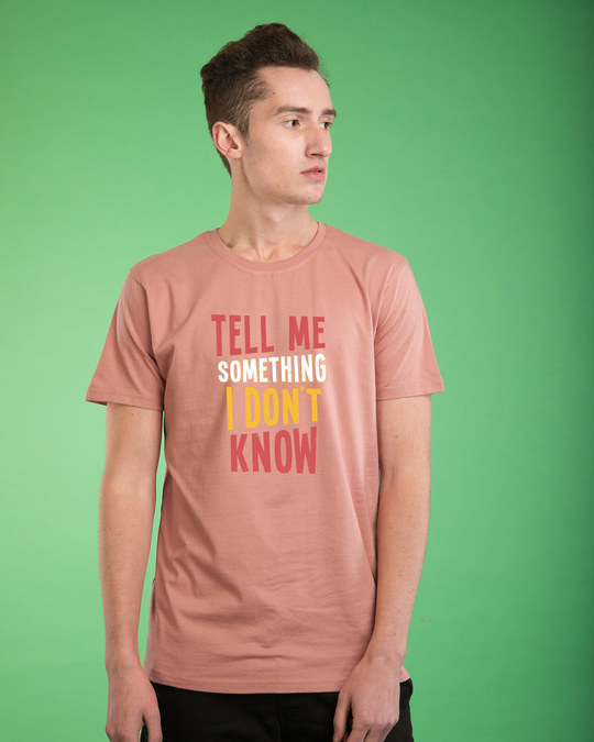 Shop Tell Me Something Half Sleeve T-Shirt-Back