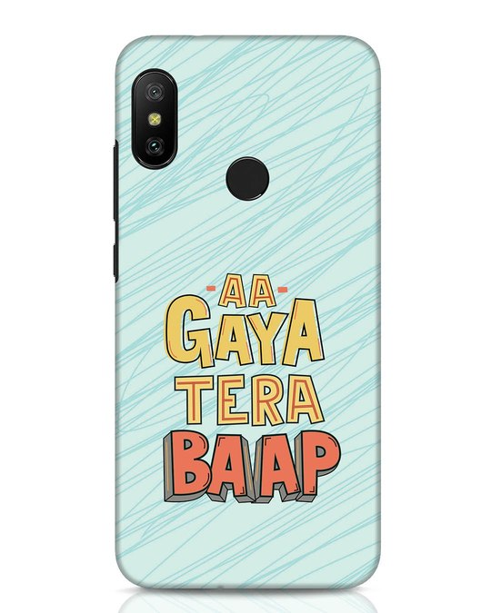 Shop Tera Baap Xiaomi Redmi Note 6 Pro Mobile Cover-Front