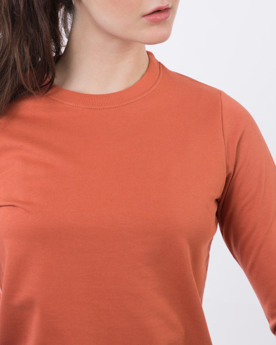 Shop Terracota Orange Crew Neck Sweatshirt