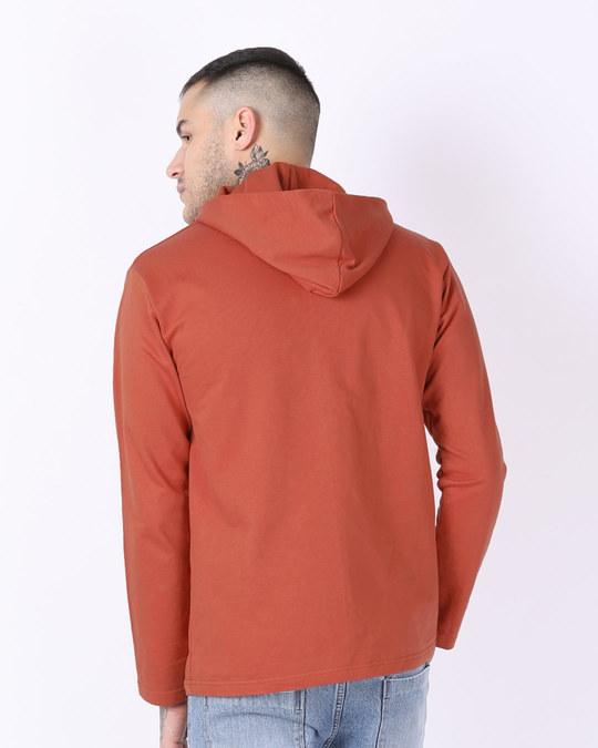 Shop Terracota Orange Henley Hoodies-Design