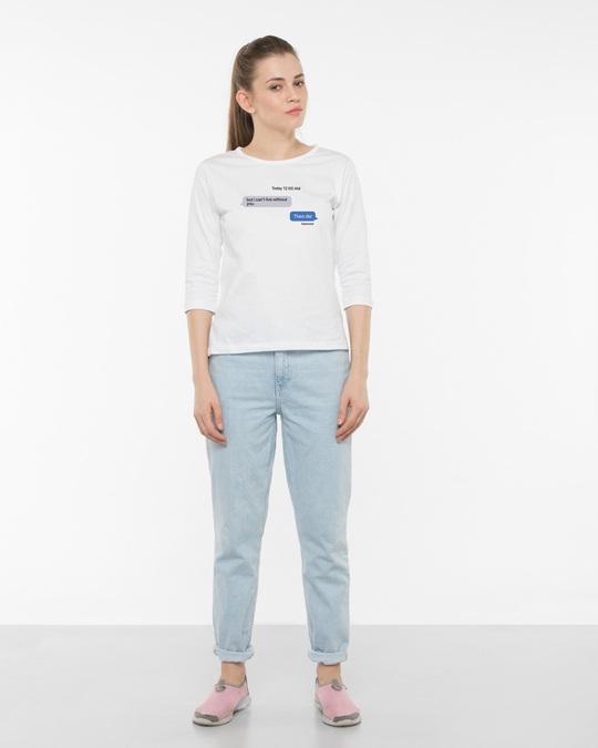 Shop Texting 12am 3/4th Sleeve T-Shirt-Full