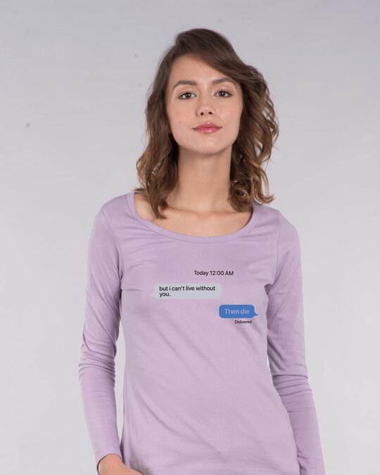 Shop Texting 12am Scoop Neck T-Shirt-Front
