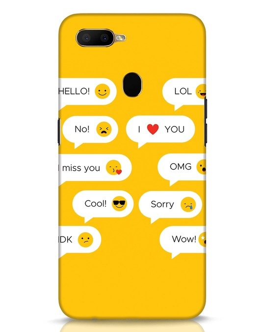 Shop Texting Emoji Oppo A5s Mobile Cover-Front