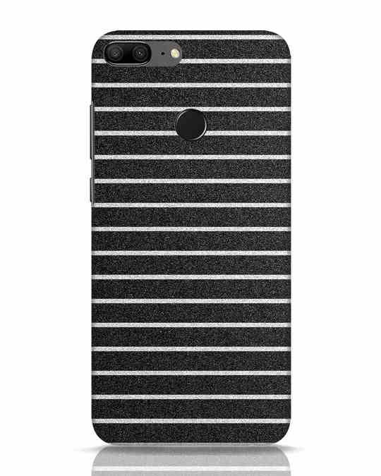 Shop Textured Stripes Huawei Honor 9 Lite Mobile Cover-Front