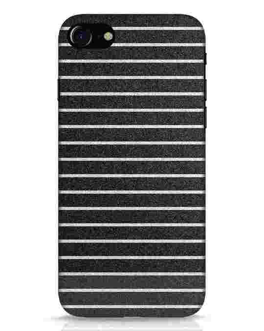 Shop Textured Stripes iPhone 8 Mobile Cover-Front