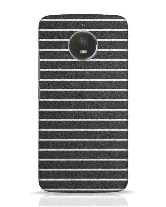 Shop Textured Stripes Moto E4 Plus Mobile Cover-Front