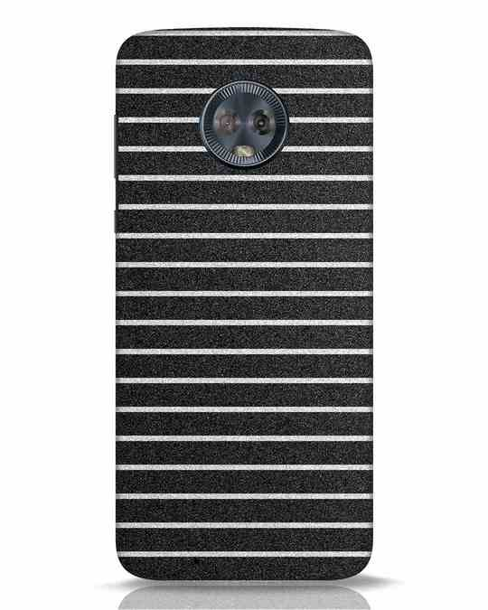 Shop Textured Stripes Moto G6 Mobile Cover-Front