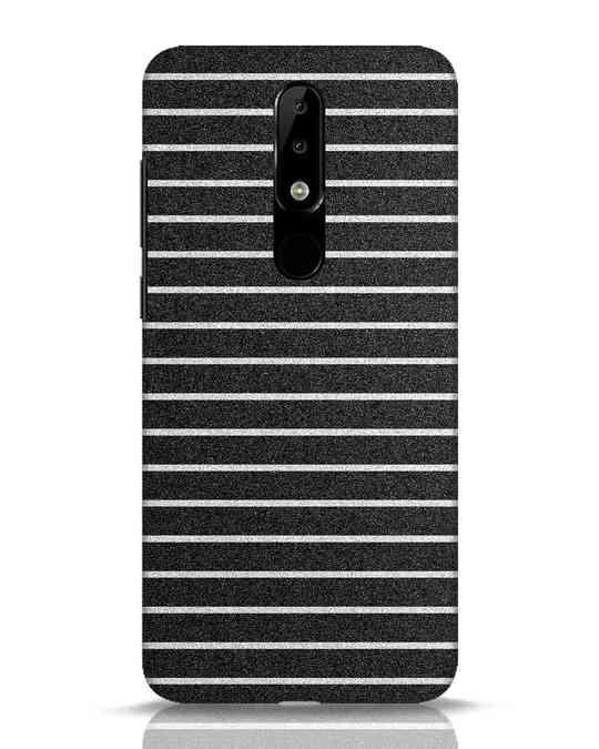 Shop Textured Stripes Nokia 5.1 Plus Mobile Cover-Front