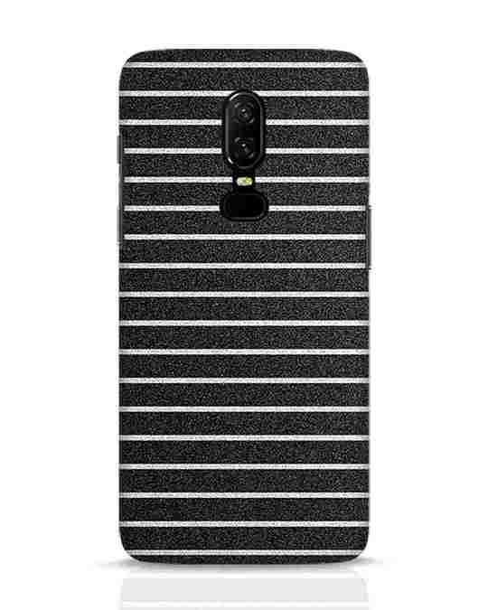 Shop Textured Stripes OnePlus 6 Mobile Cover-Front