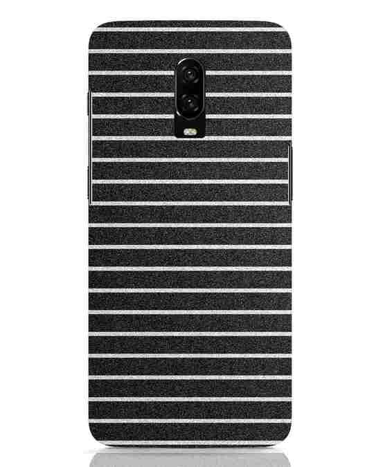 Shop Textured Stripes OnePlus 6T Mobile Cover-Front
