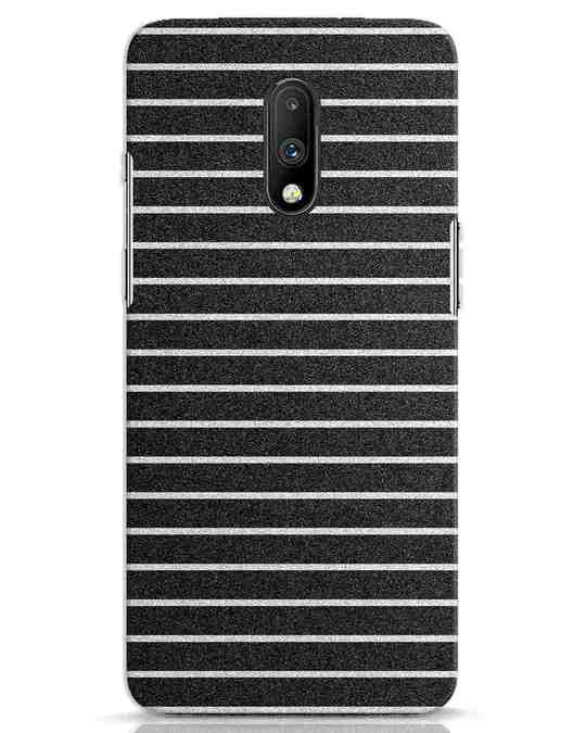 Shop Textured Stripes OnePlus 7 Mobile Cover-Front