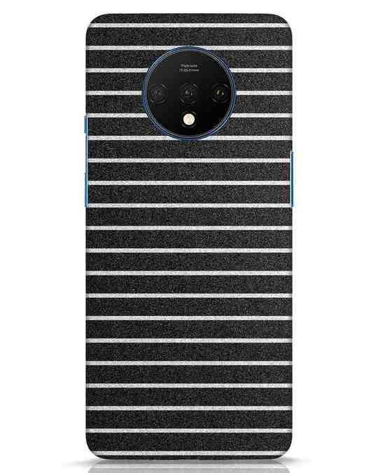 Shop Textured Stripes OnePlus 7T Mobile Cover-Front