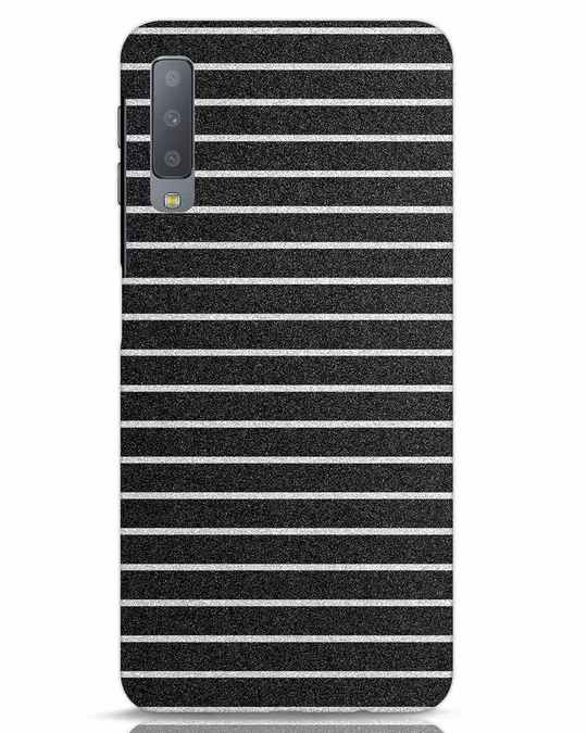 Shop Textured Stripes Samsung Galaxy A7 Mobile Cover-Front