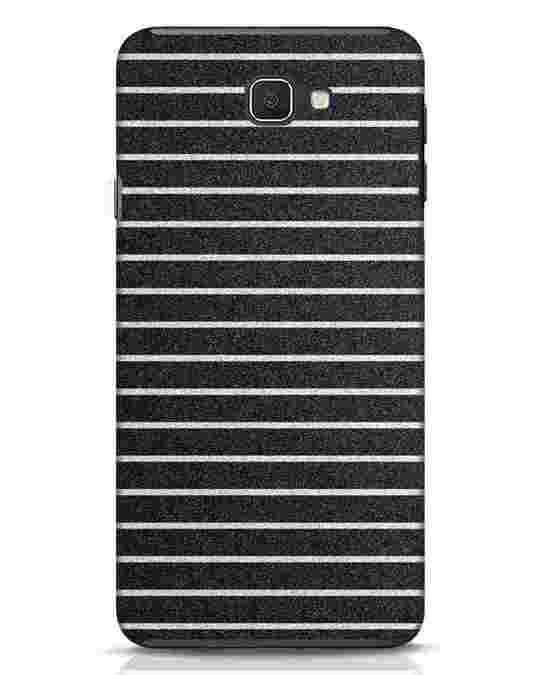 Shop Textured Stripes Samsung Galaxy J7 Prime Mobile Cover-Front