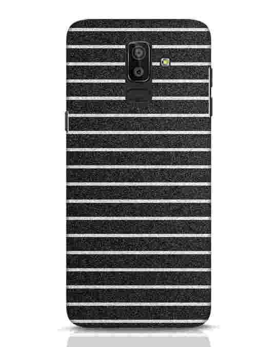 Shop Textured Stripes Samsung Galaxy J8 Mobile Cover-Front
