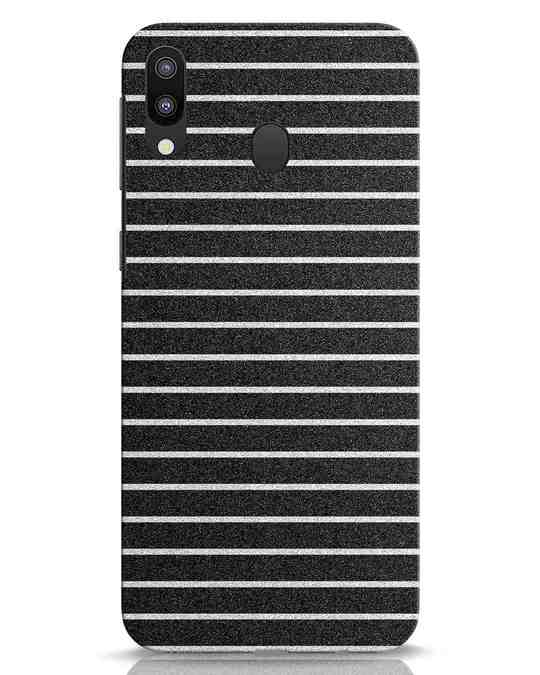 Shop Textured Stripes Samsung Galaxy M20 Mobile Cover-Front