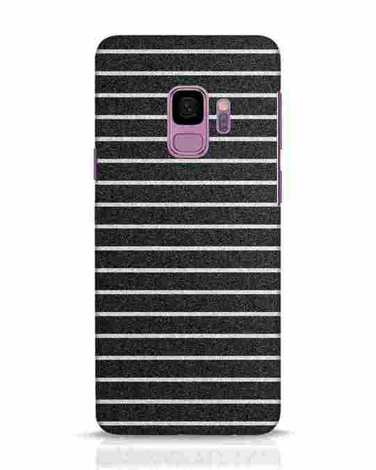 Shop Textured Stripes Samsung Galaxy S9 Mobile Cover-Front