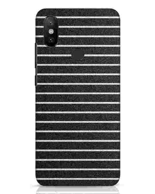 Shop Textured Stripes Xiaomi Mi A2 Mobile Cover-Front