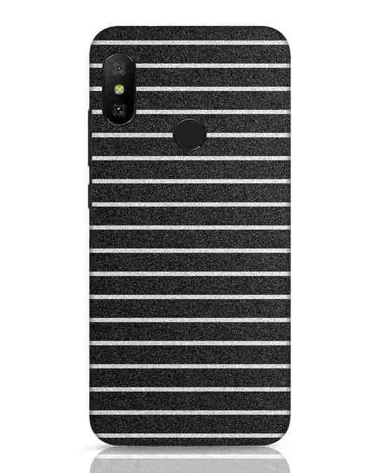 Shop Textured Stripes Xiaomi Redmi 6 Pro Mobile Cover-Front