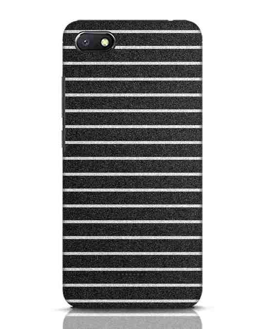 Shop Textured Stripes Xiaomi Redmi 6A Mobile Cover-Front
