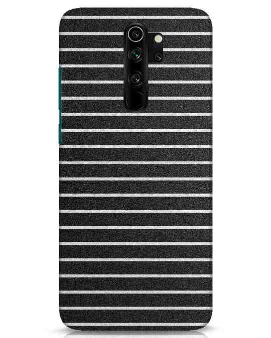 Shop Textured Stripes Xiaomi Redmi Note 8 Pro Mobile Cover-Front
