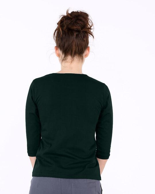 Shop Textured Yin Yang Round Neck 3/4th Sleeve T-Shirt-Back